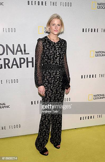 Mamie Gummer attends the 'Before The Flood' New York premiere at United Nations Headquarters on October 20 2016 in New York City