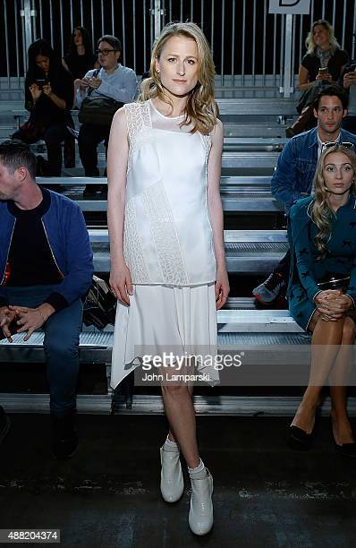 Mamie Gummer attends the Phillip Lim collection during Spring 2016 New York Fashion Week at Pier 94 on September 14, 2015 in New York City.