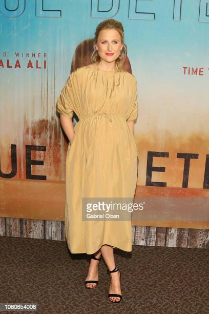 Mamie Gummer attends the premiere of HBO's True Detective Season 3 at Directors Guild Of America on January 10 2019 in Los Angeles California