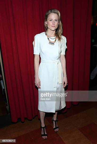 Mamie Gummer attends Ugly Lies The Bone Opening Night cast party at HB Burger on October 13 2015 in New York City