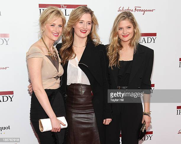 Mamie Gummer Grace Gummer and Louisa Gummer daughters of Meryl Streep attend the The Iron Lady New York premiere at the Ziegfeld Theater on December...