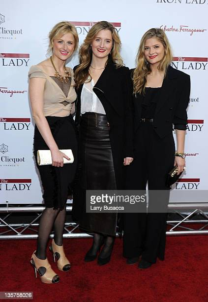 Mamie Gummer Grace Gummer Louisa Gummer attend the 'The Iron Lady' New York premiere at the Ziegfeld Theater on December 13 2011 in New York City