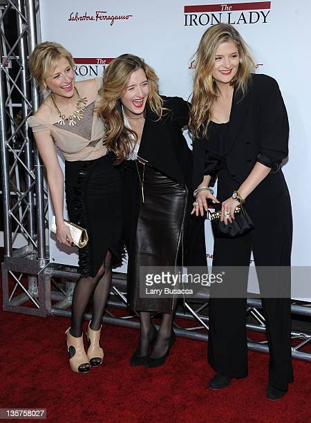 Mamie Gummer Grace Gummer Louisa Gummer attend the The Iron Lady New York premiere at the Ziegfeld Theater on December 13 2011 in New York City