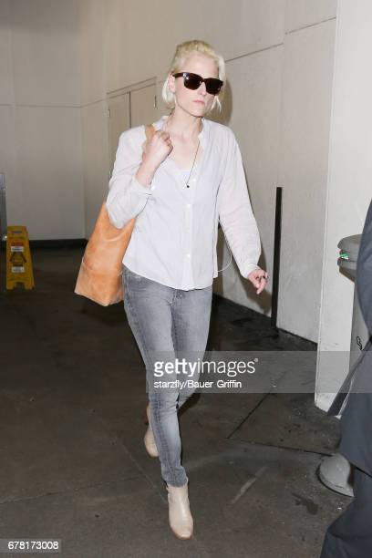 Mamie Gummer is seen at LAX on May 03 2017 in Los Angeles California
