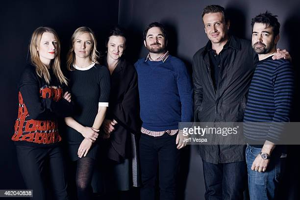 Mamie Gummer Mickey Sumner guest James Ponsoldt Jason Segel and Ron Livingston from The End of the Tour pose for a portrait at the Village at the...