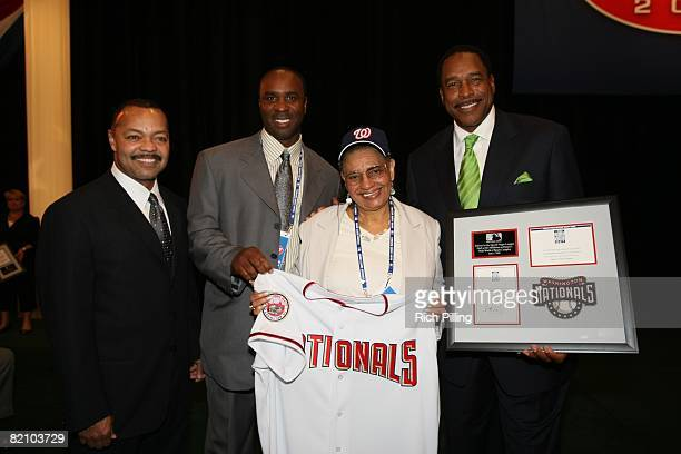Mamie 'Peanut' Johnson of the Negro Leagues during the 2008 Major League Baseball Draft held in the Milk House in Disney's Wide World of Sports in...