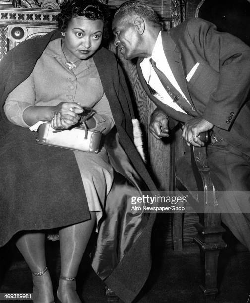 Mamie Till Bradley mother to Emmett Till the victim of a racially motivated murder in 1955 with her father Emmet Till's grandfather Sumner...
