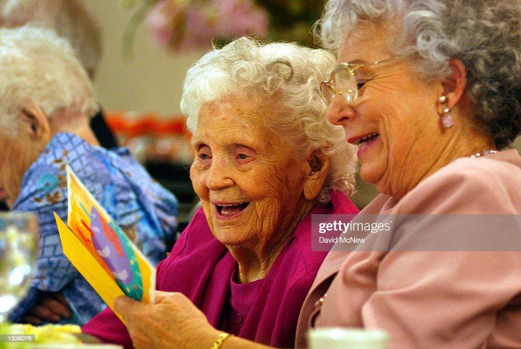 Centenarians Celebrate Birthdays : News Photo