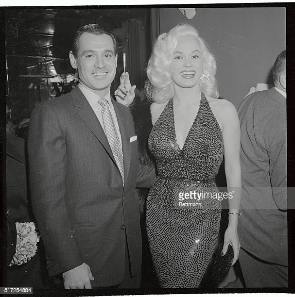Mamie Van Doren and bandleader husband Ray Anthony are shown at Macambo in Hollywood