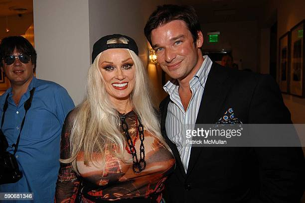 Mamie Van Doren and Joe Lupo attend MAC Cosmetics and Patrick McDonald Hosts party for Eve Kitten at Phyllis Morris in West Hollywood at West...