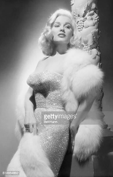 Mamie Van Doren in Fur and Evening Dress