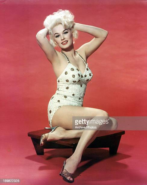 Mamie Van Doren in publicity portrait for the film 'The Second Greatest Sex' 1955