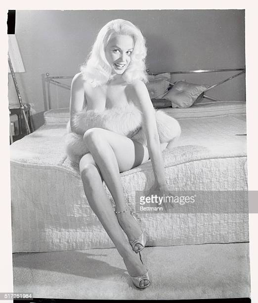 Mamie Van Doren the Cheesecake Queen now free lancing since her studio didn't pick up her contract denied she has hopes of becoming a dramatic...