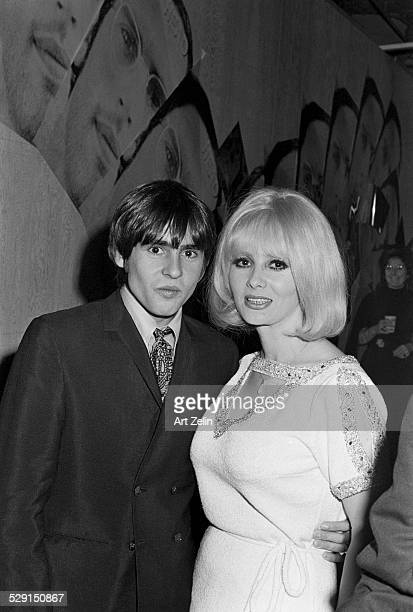 Mamie Van Doren with Davy Jones at a party in New York circa 1967