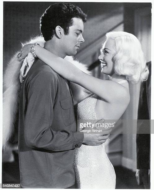 Mamie Van Doren with Russ Tamblyn starring in High School Confidential A film directed by Jack Arnold in 1958
