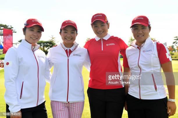 Mamiko Higa, Ayako Uehara, Misuzu Narita and Nasa Hataoka of Japan pose for photograph on day four of the UL International Crown at Jack Nicklaus...