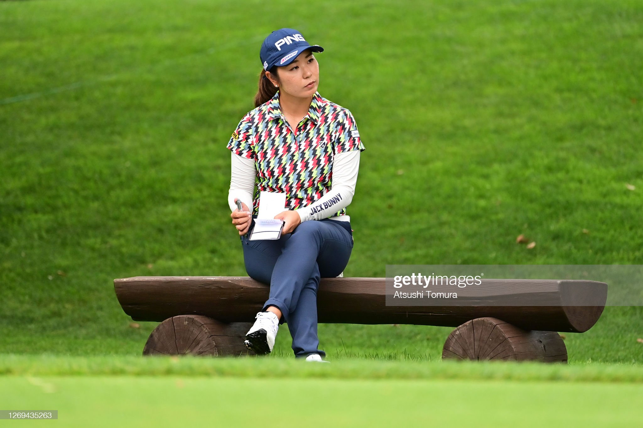 https://media.gettyimages.com/photos/mamiko-higa-of-japan-is-seen-ont-he-4th-tee-during-the-third-round-of-picture-id1269435263?s=2048x2048