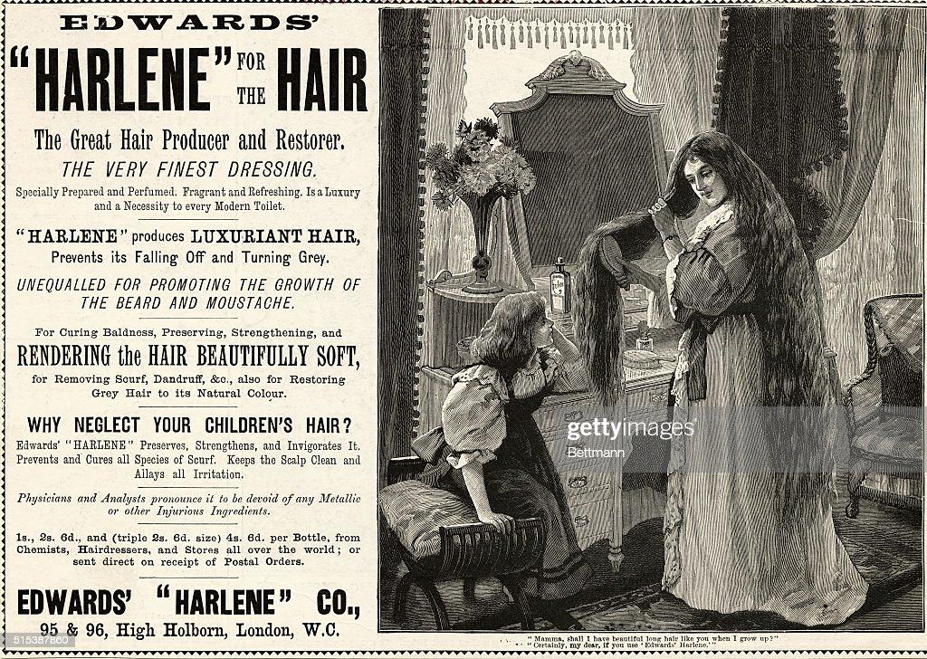 "Advertisement for ""Harlene for the Hair"" : News Photo"