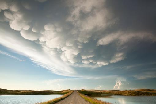 Mammatus Storm Clouds Saskatchewan 587216208