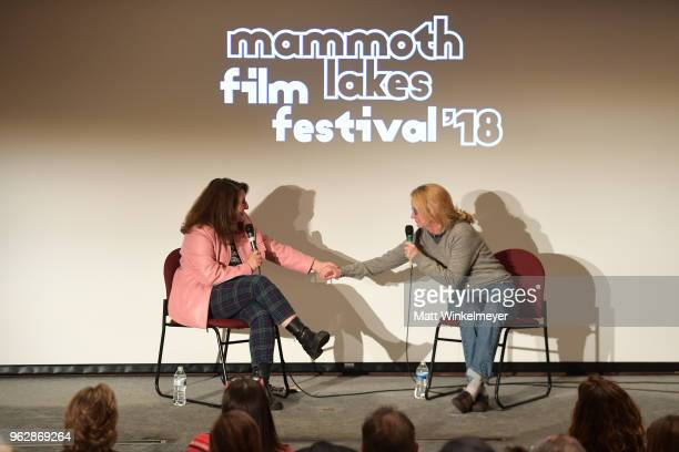 Mammoth Lakes Film Festival Director Shira Dubrovner and Melissa Leo attend the 2018 Mammoth Lakes Film Festival on May 26 2018 in Mammoth Lakes...
