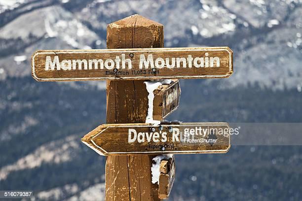 Mammoth mountains sky area in california
