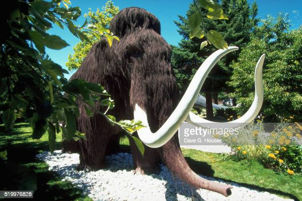 Mammoth Sculpture Outside Utah Field House of Natural History