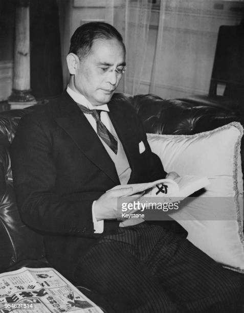 Mamoru Shigemitsu , the Japanese Ambassador to the United Kingdom, at the Japanese Embassy in London, 30th August 1939. He has been selected as the...