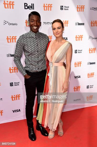 Mamoudou Athie and Brie Larson attend the Unicorn Store premiere during the 2017 Toronto International Film Festival at Ryerson Theatre on September...