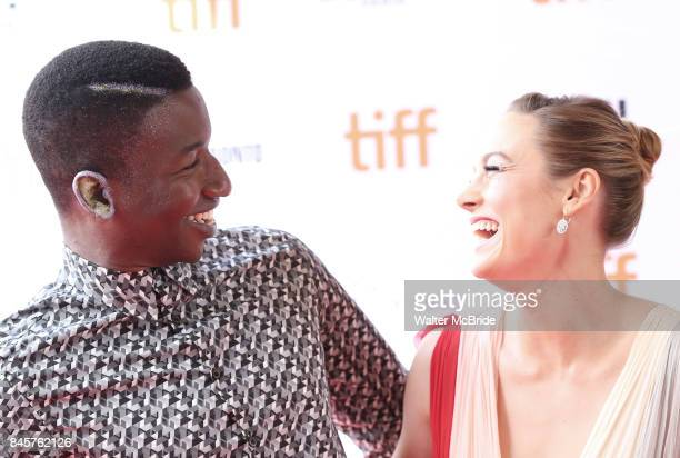 Mamoudou Athie and Brie Larson attend the 'Unicorn Store' premiere during the 2017 Toronto International Film Festival at Ryerson Theatre on...
