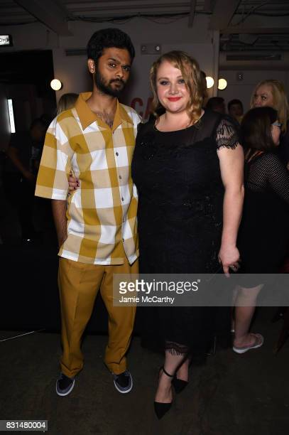 Mamoudou Athie and Danielle Macdonald attend 'Patti Cake$' New York After Party at The Metrograph on August 14 2017 in New York City