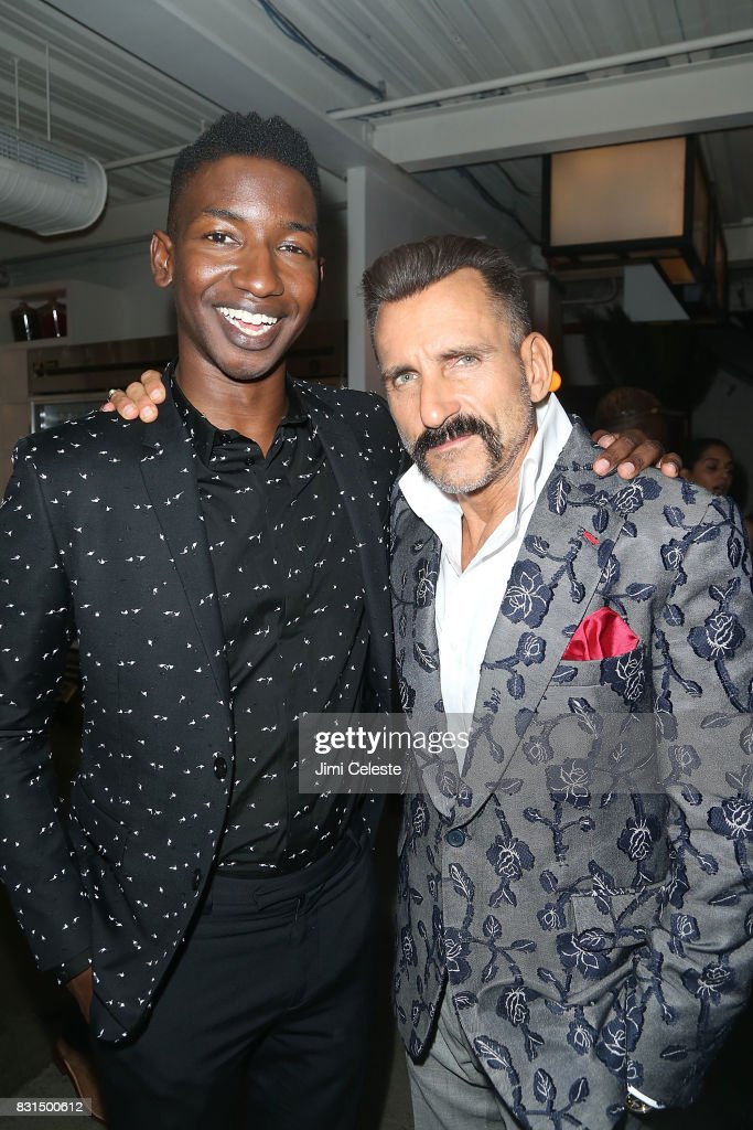 Mamoudou Athie and Wass Stevens attend the after party for the New York premiere of 'Pattii Cake$' at Metrograph on August 14, 2017 in New York City.