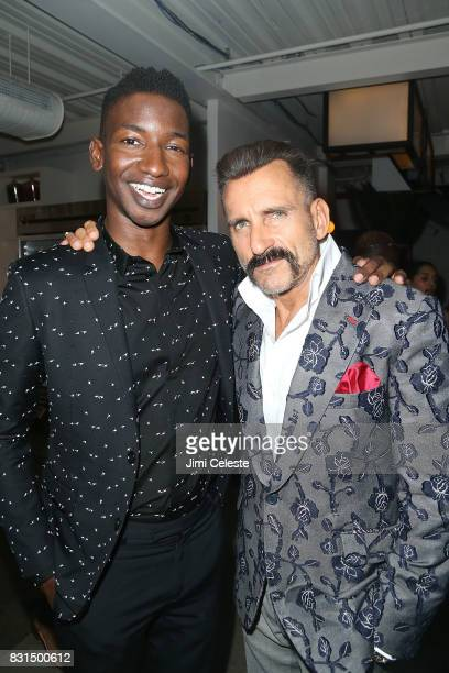 Mamoudou Athie and Wass Stevens attend the after party for the New York premiere of Pattii Cake$ at Metrograph on August 14 2017 in New York City