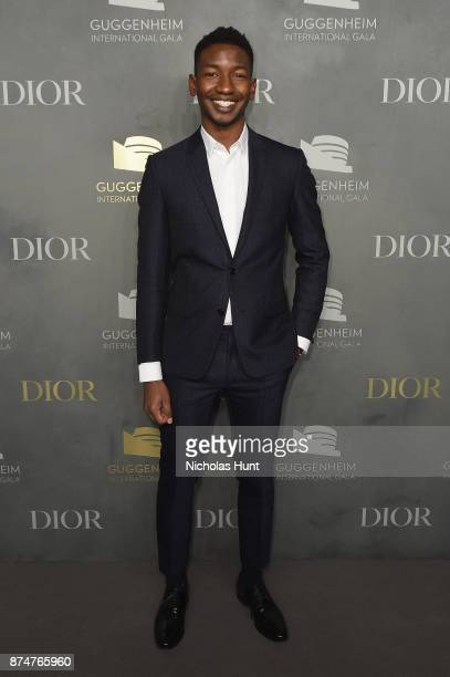 Mamoudou Athie attends the 2017 Guggenheim International Gala PreParty made possible by Dior on November 15 2017 in New York City