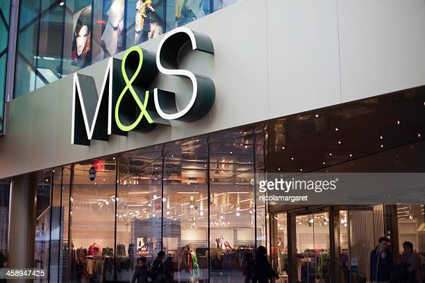 m&s store in westfield shopping centre, stratford, london. - marks and spencer stock pictures, royalty-free photos & images