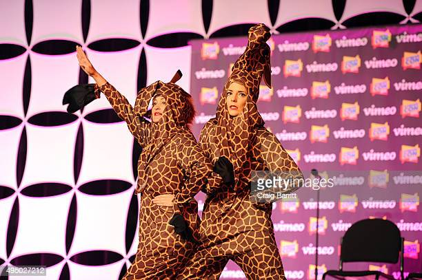 Mamrie Hart and Grace Helbig speak at Stream Con NYC 2015 on October 30 2015 in New York City