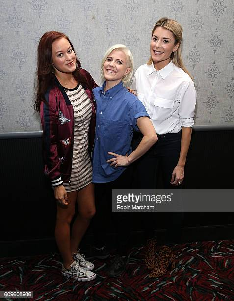 Mamrie Hart Hannah Hart and Grace Helbig attend 'Dirty 30' New York Screening at AMC Loews 19th Street Theater on September 21 2016 in New York City