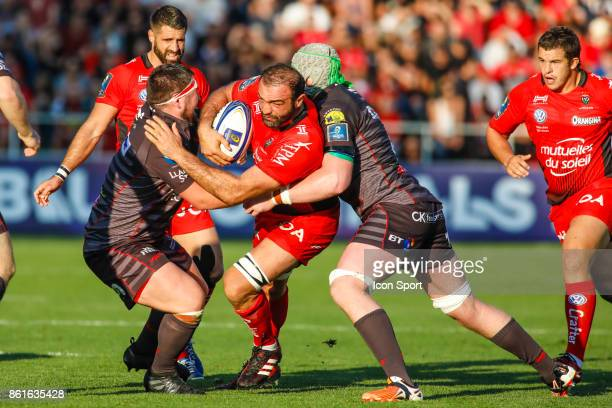 Mamuka Gorgodze of Toulon during the European Champions Cup match between Toulon and Scarlets on October 15 2017 in Toulon France