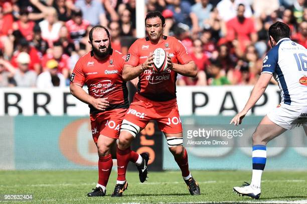 Mamuka Gorgodze of Toulon during the French Top 14 match between RC Toulon and Castres at Felix Mayol Stadium on April 28 2018 in Toulon France