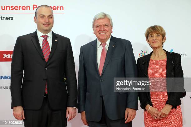 Mamuka Makhtadze, Georgian Primeminister, Volker Bouffier, Minister President of Hesse and Ursula Bouffier, attend the opening ceremony of the 2018...