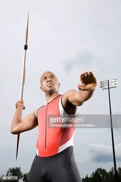 Man about to throw a javelin