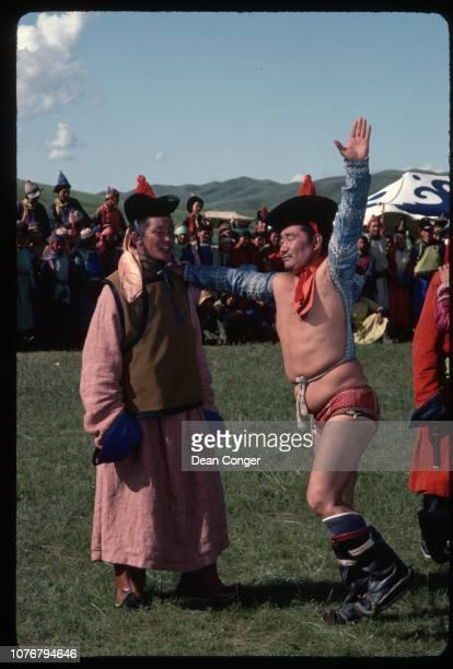 Man Acting as a Historical Wrestler Mongolia