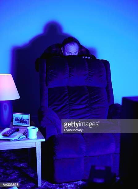 Man Afraid From Watching Television