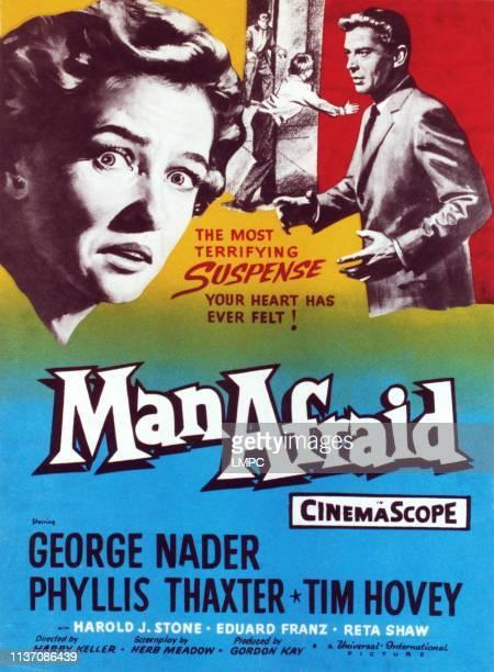 Man Afraid poster Phyllis Thaxter George Nader 1957