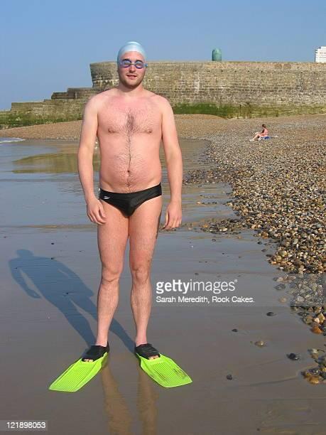 Man after swim