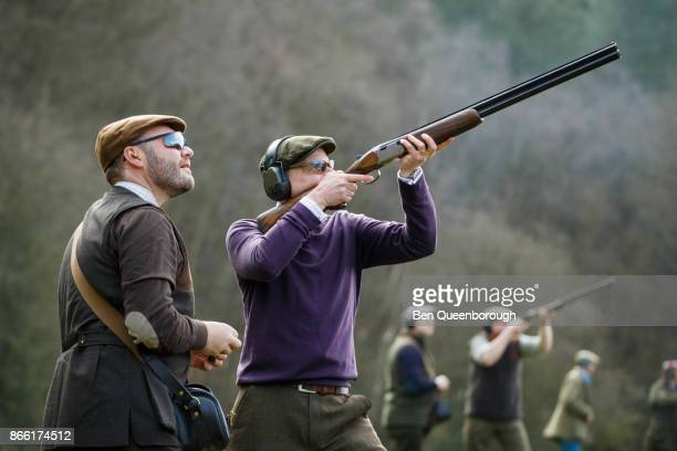 Worlds Best Clay Pigeon Shooting Stock Pictures Photos