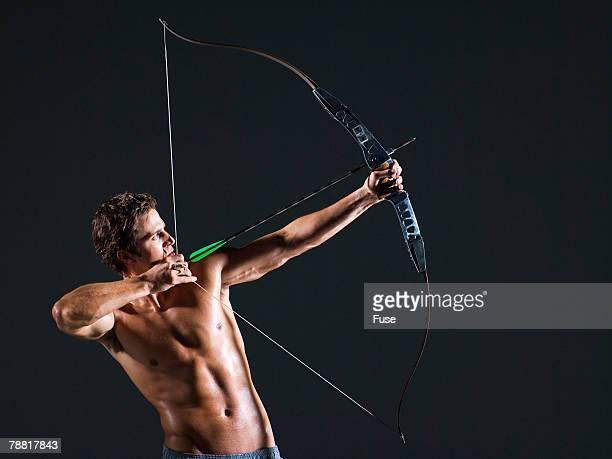 Man Aiming an Arrow