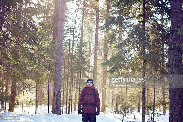 man alone in forest - cliqueimages stock pictures, royalty-free photos & images