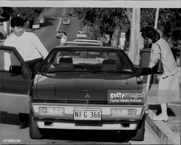 A man and a Woman believed to be relatives of the Wong Family Leave the Prince of Wales Hospital after visiting Mrs Wong January 04 1985
