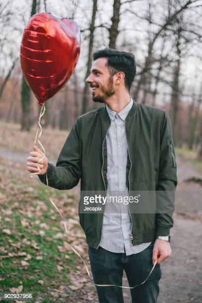 Mann und Ballon