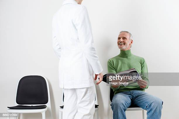 Man and dentist